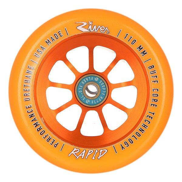 Колесо для самоката River Rapids 110mm Orange On OrangeНабор колес для вашего самоката.Характеристики:Материал: анодированный алюминий. Диаметр: 110 мм. Вес: 212 г. Идеально подходят для паркового катания. Сделано в США Andrew Broussard (PROTO).<br><br>Цвет: оранжевый<br>Тип: Колесо для самоката<br>Возраст: Взрослый<br>Пол: Мужской