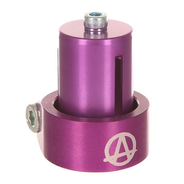 Зажимы Apex Hic Mono Kit PurpleНабор для установки oversized руля под HIC-систему: включает в себя одинарный зажим и HIC-проставку. Характеристики:Доступны в цветовых вариантах. Материал: 100% алюминий.<br><br>Цвет: фиолетовый<br>Тип: Зажимы<br>Возраст: Взрослый<br>Пол: Мужской