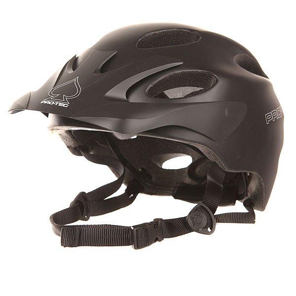 Шлем для велосипеда Pro-Tec Cyphon Sl BlackШлем Pro-Tec Cyphon является отличным дополнением к Pro-tec линии. Оснащён облегченной спрессованной конструкцией, шлем с системой микрорегулировки для полной подгонки по форме головы. Характеристики:Внешняя раковина изготовлена из высокопрочного пластика ABS. Внутренняя часть - сжатая полиуретановая пена с ламинированным покрытием Nylex. Регулируемый ремешок с неопреновой панельюдля крепления на подбородке, который обеспечивает надлежащую фиксацию и предотвращает скольжение шлема. Дополнительная фиксация на затылке для более плотного прилегания. Съёмные накладки для ушей обеспечивают дополнительную защиту и тепло, не ограничивая слышимость. Вентиляция - 15 отверстий.<br><br>Цвет: черный<br>Тип: Шлем для велосипеда<br>Возраст: Взрослый<br>Пол: Мужской