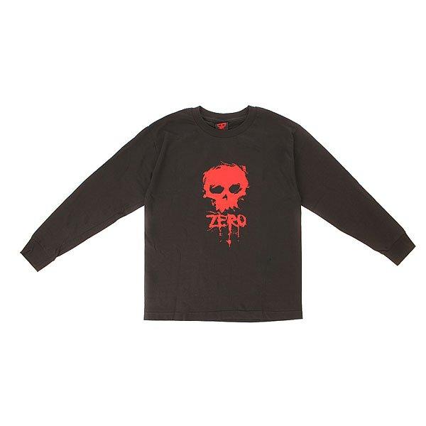 Лонгслив детский Zero Skull BlackДетская футболка с ярким принтом от Zero.Технические характеристики: Натуральный хлопок.Длинные рукава.Воротник с круглым вырезом.Классический крой.Яркий принт с логотипом Zero.<br><br>Цвет: черный<br>Тип: Лонгслив<br>Возраст: Детский