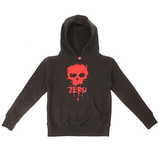 Толстовка кенгуру детская Zero Blood Skull Black