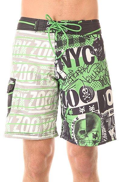 Шорты пляжные Zoo York Post Boardshorts Verde<br><br>Цвет: мультиколор<br>Тип: Шорты пляжные<br>Возраст: Взрослый<br>Пол: Мужской