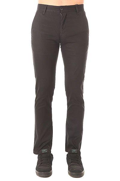 Штаны узкие Etnies E1 Slim Chino Black штаны прямые billabong new order chino khaki