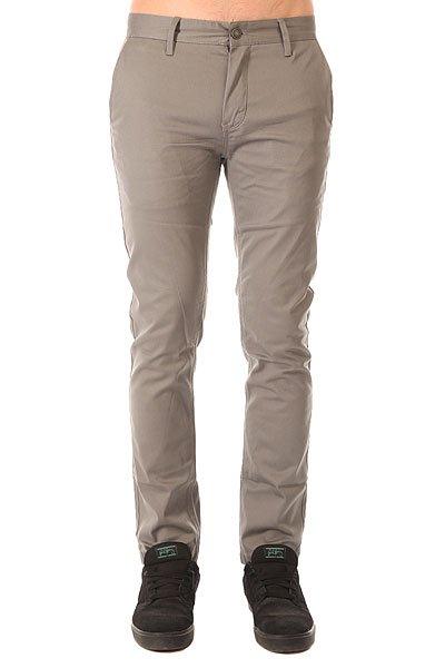 Штаны узкие Altamont Davis Slim Chino Grey штаны прямые billabong new order chino khaki