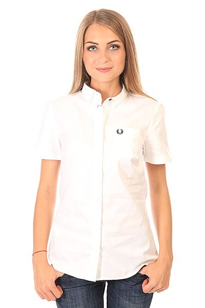 ������� ������� Fred Perry Basket Weave Shirt White