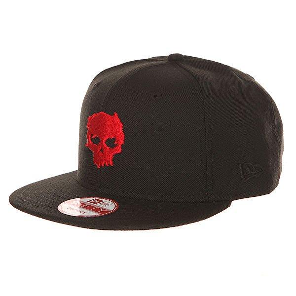 Бейсболка с прямым козырьком Zero Blood Skull Red/Black