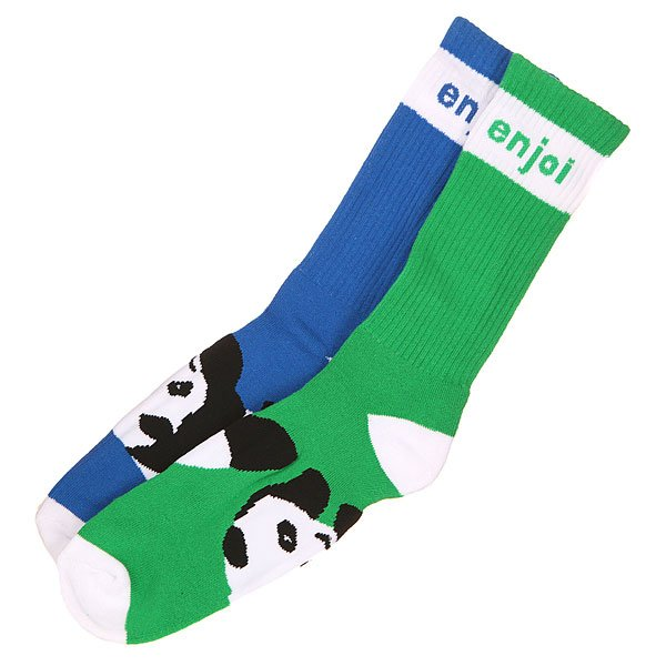 Носки средние Enjoi Mixed Panda Foot Green/Blue