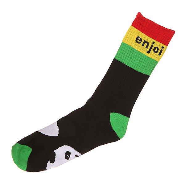 Носки средние Enjoi Rasta Panda Rasta<br><br>Цвет: черный<br>Тип: Носки средние<br>Возраст: Взрослый<br>Пол: Мужской