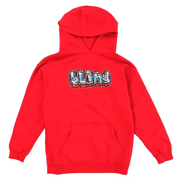 Толстовка кенгуру детская Blind Graffiti Og Logo Red<br><br>Цвет: красный<br>Тип: Толстовка кенгуру<br>Возраст: Детский