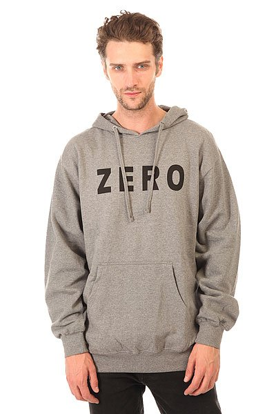 Толстовка кенгуру Zero Army Pullover Gunmetal Heather/White