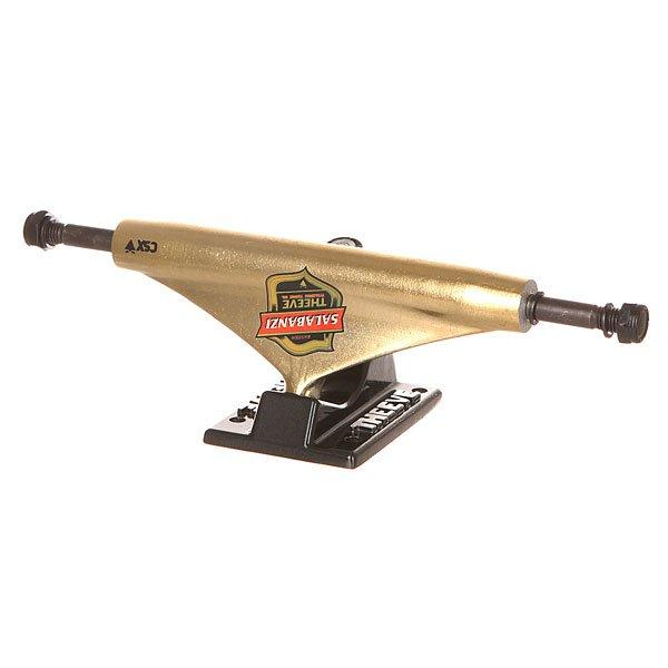 Подвеска для скейтборда 1шт. Theeve Csx Bastien Shield 5.5 (21 см)Ширина подвесок: 5.5 (21 см)    Высота подвесок: 55 мм    Цена указана за 1 шт<br><br>Цвет: черный,желтый<br>Тип: Подвеска для скейтборда<br>Возраст: Взрослый<br>Пол: Мужской