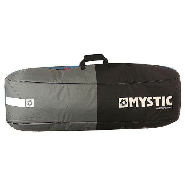 Чехол для вейкборда Mystic Star Kite/Wake Boardbag Single 1.45m BlackНадежный чехол для переноски и хранения вейкборда. Чехол снабжен мягкой подкладкой для защиты от случайного повреждения.Технические характеристики: Полиэстер 600D с ПВХ покрытием.Мягкая подкладка толщиной  8 мм.Внутренние удерживающие ремни.Мощная молния.Плечевой ремень.Ручка для переноски.<br><br>Цвет: черный,серый<br>Тип: Чехол для вейкборда<br>Возраст: Взрослый<br>Пол: Мужской
