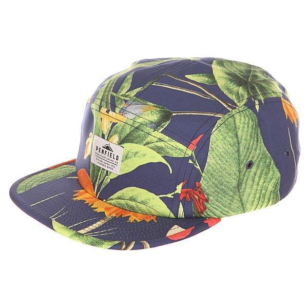 Бейсболка пятипанелька Penfield Casper Botanical Cap Navy<br><br>Цвет: мультиколор,черный<br>Тип: Бейсболка пятипанелька<br>Возраст: Взрослый<br>Пол: Мужской