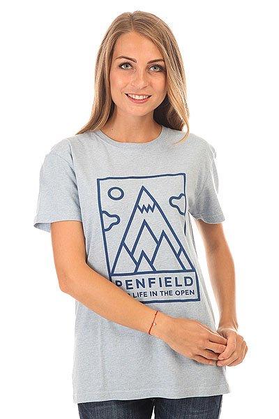 Футболка женская Penfield Peaks T Shirt Sky<br><br>Цвет: голубой<br>Тип: Футболка<br>Возраст: Взрослый<br>Пол: Женский