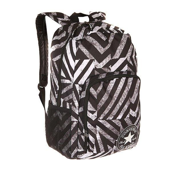 Рюкзак городской Converse All In Backpack II Black/WhiteУдобный городской рюкзак со свободной организацией пространства, в который Вы можете положить все, что Вам нужно для учебы или путешествия.Технические характеристики: Просторное основное отделение с застежкой на молнии.Объемный внешний карман на молнии для разных мелочей.Боковые сеточные карманы.Широкие эргономичные лямки с регулировкой по длине.Ручка для переноски.Нашивка с логотипом Converse на кармане.<br><br>Цвет: черный,белый<br>Тип: Рюкзак городской<br>Возраст: Взрослый<br>Пол: Мужской