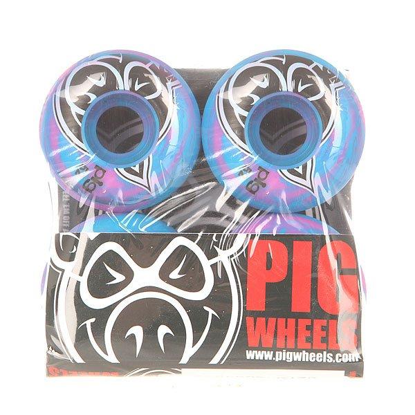Колеса для скейтборда для скейтборда Pig Head Swirls New Pink/Blue 100A 52 mmДиаметр: 52 mm    Жесткость: 100A    Цена указана за комплект из 4-х колесКомплект колес для скейтборда от Pig. Колеса созданы по формуле hard park для равномерного износа.Технические характеристики: Материал - полиуретан.Диаметр 52 мм.Жесткость 100А.Рифленая поверхность.Форма Speed-Line.Комплект из 4 колес.<br><br>Цвет: голубой,розовый<br>Тип: Колеса для скейтборда<br>Возраст: Взрослый<br>Пол: Мужской