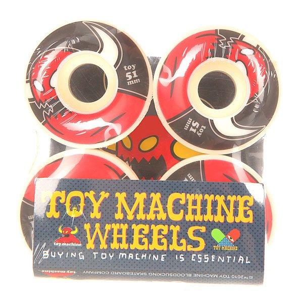 Колеса для скейтборда для скейтборда Toy Machine Monsters Red/Blac/White 100A 51 mm