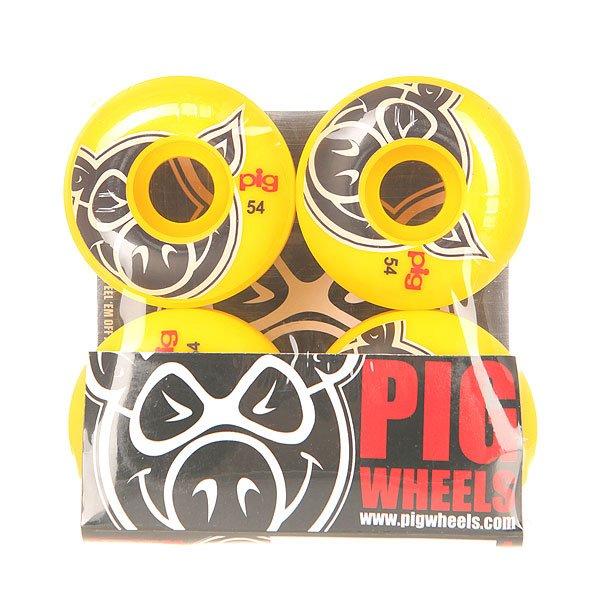 Колеса для скейтборда для скейтборда Pig Head Yellow 100A 54 mm