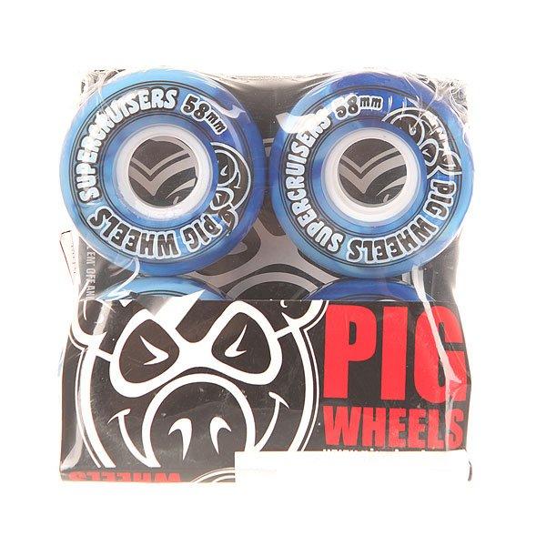 Колеса для скейтборда для лонгборда Pig Supercruiser New Blue/Light Blue 88A 58 mmДиаметр: 58 mm    Жесткость: 88A    Цена указана за комплект из 4-х колесКачественные колеса из  полиуретана в контрастном дизайне, благодаря которому создается яркий эффект в процессе движения колес. Супер мягкие колеса от Pig позволят наслаждаться непринужденным катанием.Технические характеристики: Материал - полиуретан.Диаметр 58 мм.Жесткость 88А.Гладкая поверхность колес.Комплект из 4 колес.<br><br>Цвет: синий,голубой<br>Тип: Колеса для лонгборда<br>Возраст: Взрослый<br>Пол: Мужской