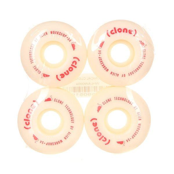 Колеса для скейтборда для скейтборда Alien WorkShop (AWS) Conical Clone White 100A 54 mmДиаметр: 54 mm    Жесткость: 100A    Цена указана за комплект из 4-х колесНовые качественные колеса - сделаны на совесть! Они обеспечат плавное движение на улице или в парке.Технические характеристики: Материал - полиуретан.Диаметр 54 мм.Жесткость 100А.Рифленая поверхность колес.Комплект из 4 колес.<br><br>Цвет: белый<br>Тип: Колеса для скейтборда<br>Возраст: Взрослый<br>Пол: Мужской