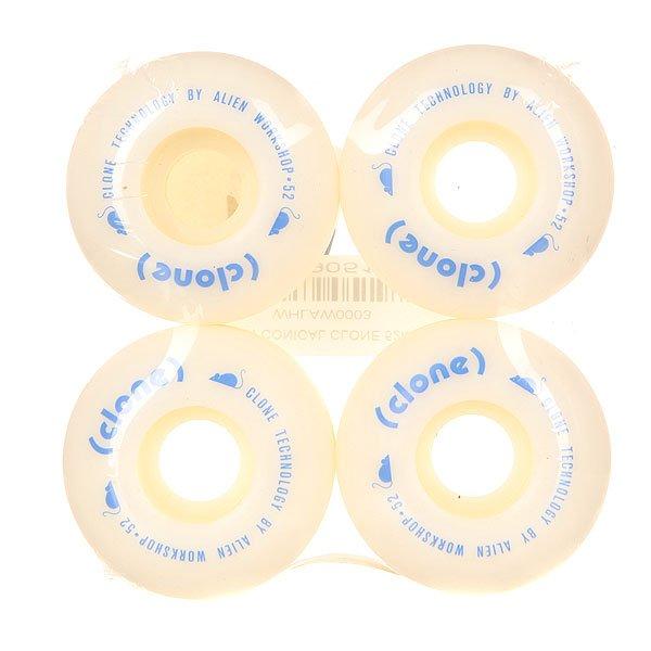 Колеса для скейтборда для скейтборда Alien WorkShop (AWS) Conical Clone White 100A 52 mmДиаметр: 52 mm    Жесткость: 100A    Цена указана за комплект из 4-х колесНовые качественные колеса - сделаны на совесть! Они обеспечат плавное движение на улице или в парке.Технические характеристики: Материал - полиуретан.Диаметр 52 мм.Жесткость 100А.Рифленая поверхность колес.Комплект из 4 колес.<br><br>Цвет: белый<br>Тип: Колеса для скейтборда<br>Возраст: Взрослый<br>Пол: Мужской