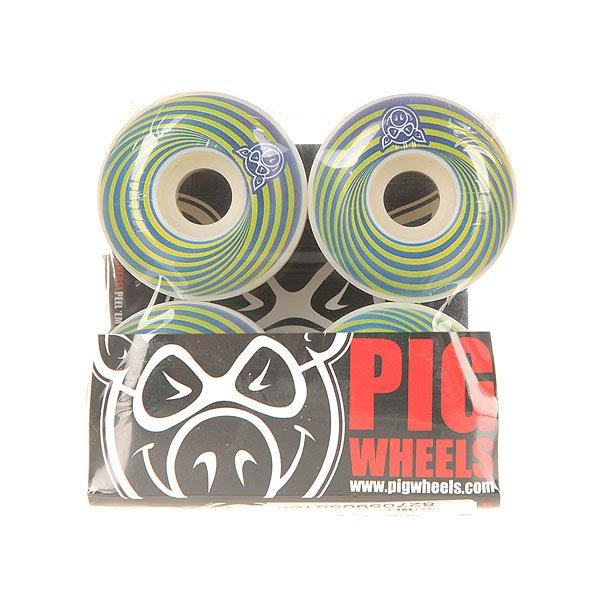 Колеса для скейтборда для скейтборда Pig Vertigo Blue 100A 55 mmДиаметр: 55 mm    Жесткость: 100A    Цена указана за комплект из 4-х колесГоловокружительные колеса для стильной езды. Испытывайте их как захотите!Технические характеристики: Материал - полиуретан.Диаметр 55 мм.Жесткость 100А.Рифленая поверхность.Комплект из 4 колес.<br><br>Цвет: зеленый,синий,белый<br>Тип: Колеса для скейтборда<br>Возраст: Взрослый<br>Пол: Мужской
