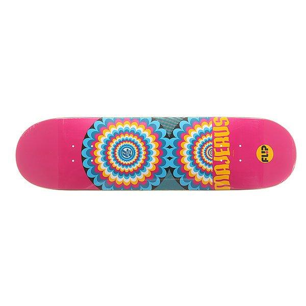 Дека для скейтборда для скейтборда Flip S6 Optical P2 Majerus 32.31 x 8.25 (21 см)Ширина деки: 8.25 (21 см)    Длина деки: 32.31 (82.1 см)    Количество слоев: 7Про-модель от Alec Majerus из серии комиксов Flip Skateboards. Прочная, но динамичная  дека из клена в оригинальном дизайне от Flip.Технические характеристики: Конструкция из 7 слоев североамериканского клена.Конкейв Medium.Колесная база 36,2 см.<br><br>Цвет: розовый,мультиколор<br>Тип: Дека для скейтборда<br>Возраст: Взрослый<br>Пол: Мужской