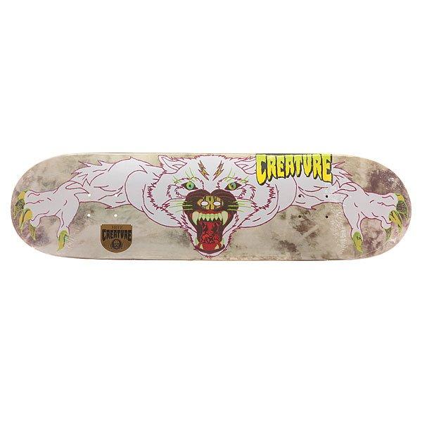 Дека для скейтборда для скейтборда Creature S6 Hitz Venom Stitches 32.2 x 8.5 (21.6 см)Ширина деки: 8.5 (21.6 см)    Длина деки: 32.2 (81.8 см)    Количество слоев: 7Про-модель от Sam Hitz из серии Creature Skateboards Venom Stiches. Прочная дека из североамериканского клена способна выдержать максимальные нагрузки и воплотить Ваши идеи в реальность.Технические характеристики: Североамериканский клен.Конкейв Medium.Колесная база 36,5 см.<br><br>Цвет: мультиколор<br>Тип: Дека для скейтборда<br>Возраст: Взрослый<br>Пол: Мужской