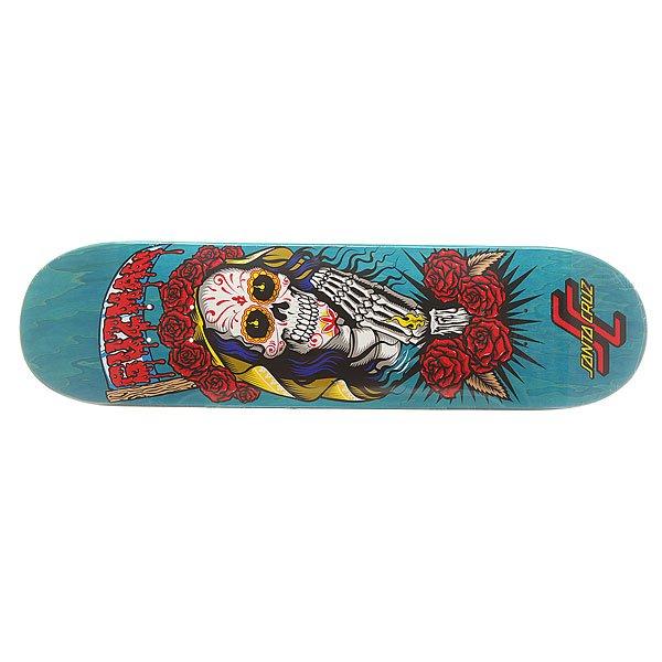 Дека для скейтборда для скейтборда Santa Cruz S6 Guzman Muerte Bae 31.9 x 8.2 (20.8 см)Ширина деки: 8.2 (20.8 см)    Длина деки: 31.9 (81 см)    Количество слоев: 7Про-модель от Emmanuel Guzman. Классическая дека  для скейтборда из североамериканского клена способна выдержать максимальные нагрузки и воплотить Ваши идеи в реальность.Технические характеристики: Североамериканский клен.Конкейв Medium.Колесная база 36,1 см.<br><br>Цвет: синий,мультиколор<br>Тип: Дека для скейтборда<br>Возраст: Взрослый<br>Пол: Мужской