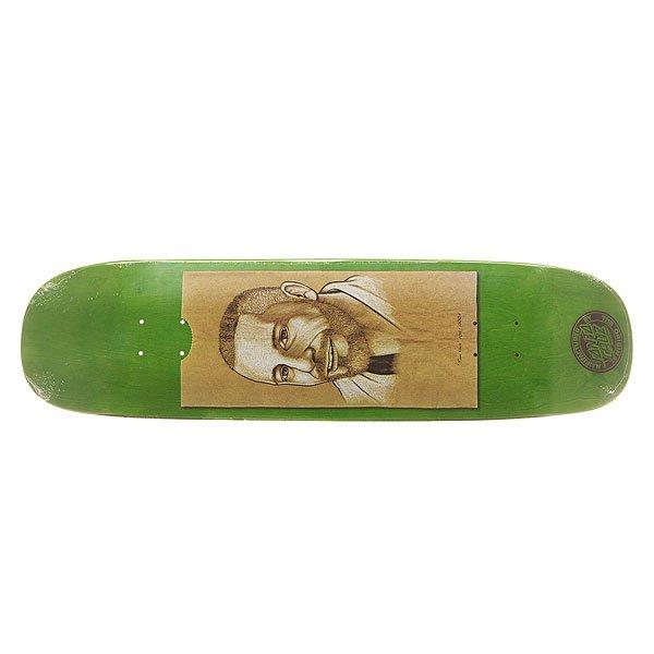 Дека для скейтборда для скейтборда Santa Cruz S6 Guzman Muerte Bae 32.25 x 8.47 (21.5 см)Ширина деки: 8.47 (21.5 см)    Длина деки: 32.25 (81.9 см)    Количество слоев: 7Про-модель от Tom Knox. Классическая дека  для скейтборда из североамериканского клена способна выдержать максимальные нагрузки и воплотить Ваши идеи в реальность. Дизайн от Lucas Musgrave.Технические характеристики: Североамериканский клен.Конкейв Medium.Колесная база 38,1 см.<br><br>Цвет: зеленый,бежевый<br>Тип: Дека для скейтборда<br>Возраст: Взрослый<br>Пол: Мужской