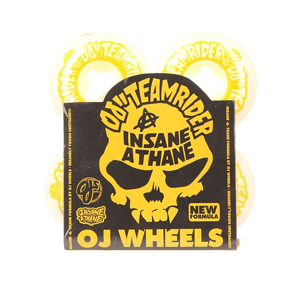 Колеса для скейтборда для скейтборда Oj Team Rider Ez Edge Insaneathane White/Yellow 101A 53 mmДиаметр: 53 mm    Жесткость: 101A    Цена указана за комплект из 4-х колес<br><br>Цвет: белый,желтый<br>Тип: Колеса для скейтборда<br>Возраст: Взрослый<br>Пол: Мужской