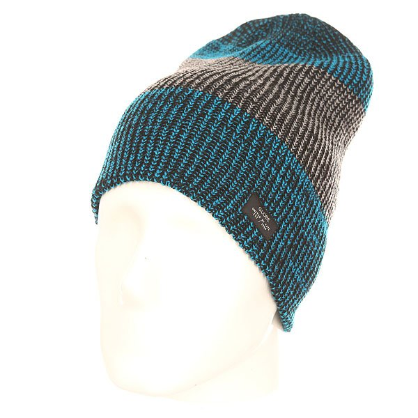 Шапка носок Globe Halladay Fat Stripe Beanie Blue/Grey цена