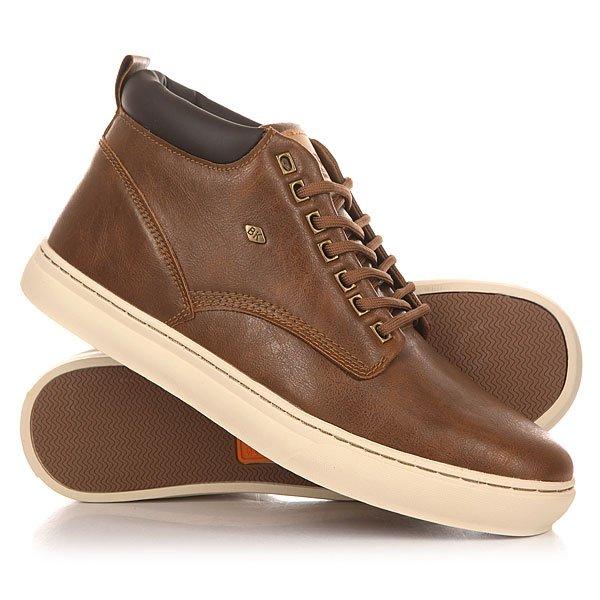 Кеды кроссовки высокие British Knights Wood Cognac/Dark Brown