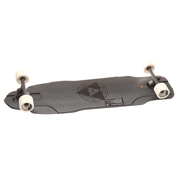 Лонгборд Globe The Maiden Black Metal 10 x 37 (94 см)Быстрый и неуловимый лонгборд  для скоростного спуска с возможностью дрифта! Высококачественные комплектующие делают доску быстрой, крепкой и непобедимой.Технические характеристики: Длина - 94 см, ширина - 25,4 см.Легкая и прочная дека с конструкцией Resin-9 со скошенными краями, выполненная из высококачественного кленаШирокий конкейв side-to-side.Подвески Slant Magnesium Inverted 180 мм.Колеса Trooper 70 мм, 80А.Быстрые подшипники ABEC 7.Шкурка с графикой.<br><br>Цвет: серый<br>Тип: Лонгборд<br>Возраст: Взрослый<br>Пол: Мужской
