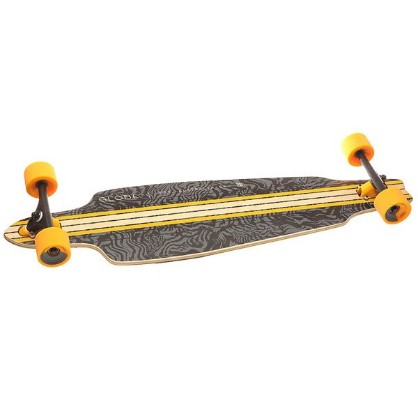 Лонгборд Globe Prowler Cruiser Black/Yellow/Tailspin 9.75 x 38.5 (98 см)