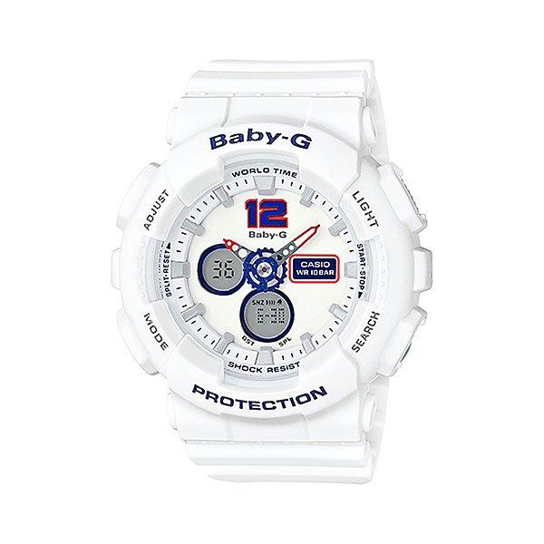 Кварцевые часы женские Casio G-Shock Baby-g Ba-120tr-7b True White casio g shock часы детские casio g shock baby g ba 120sc 1a navy