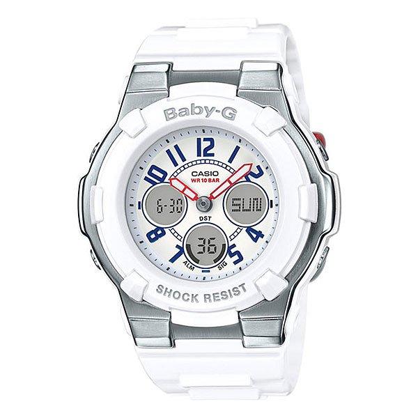 Кварцевые часы детские Casio G-Shock Baby-g Bga-110tr-7b White/SilverУдаропрочные и функциональные часы в прочном корпусе из нержавеющей стали и полимерного пластика в контрастной цветовой гамме в стиле триколор.Технические характеристики: Светодиодная подсветка.Ударопрочная конструкция защищает от ударов и вибрации.Неоновый дисплей.Функция мирового времени.Функция секундомера- 1/100 сек. - 1 час.Таймер - 1/1 мин. - 24  часа (с автоматическим повтором).5 ежедневных будильников.Режим редактирования.Включение/выключение звука кнопок.Автоматический календарь.12/24-часовое отображение времени.Минеральное стекло.Корпус из нержавеющей стали и полимерного пластика.Ремешок из полимерного материала.Срок службы аккумулятора - 2 года.Точность +/- 30 сек в месяц.<br><br>Цвет: белый<br>Тип: Кварцевые часы<br>Возраст: Детский