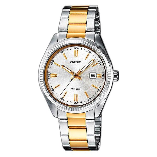 Кварцевые часы Casio Collection Ltp-1302psg-7a Grey/Gold кварцевые часы casio collection ltp e118g 5a