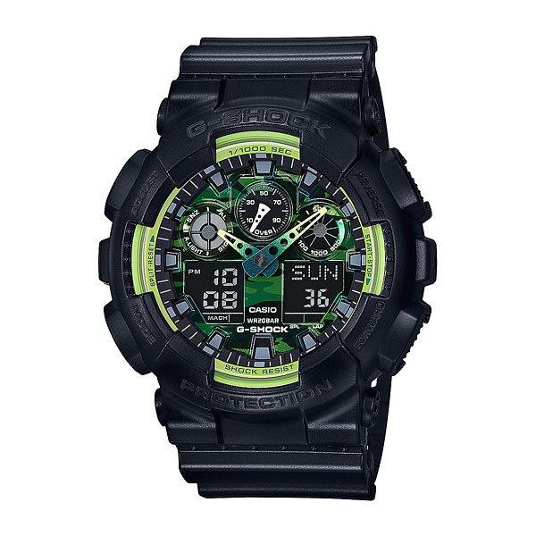 Электронные часы Casio G-Shock Ga-100ly-1a Black/GreenМощные и функциональные наручные часы в ударопрочном корпусе из полимерного пластика.Технические характеристики: Автоматическая светодиодная подсветка.Ударопрочная конструкция защищает от ударов и вибрации.Функция мирового времени.Секундомер.Таймер обратного отсчета с функцией автоповтора.Будильник - до 5 независимых ежедневных сигналов.Ежечасный сигнал.Полностью автоматический календарь.12/24-часовое отображение времени.Минеральное стекло.Корпус из полимерного пластика.Ремешок из полимерного материала.Устойчивость к воздействию магнитного поля.Срок службы аккумулятора - 2 года.<br><br>Цвет: черный<br>Тип: Электронные часы<br>Возраст: Взрослый<br>Пол: Мужской