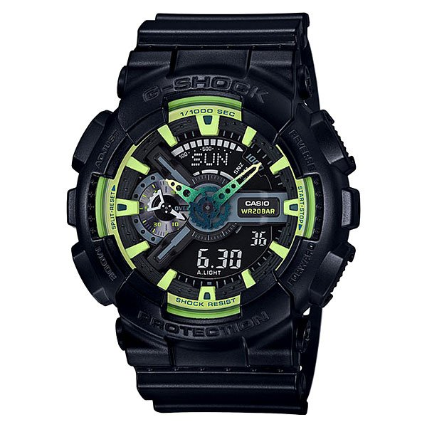 Электронные часы Casio G-Shock Ga-110ly-1a Green/Black часы casio g shock ga 110mb 1a black