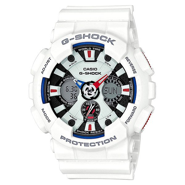 Электронные часы Casio G-Shock Ga-120tr-7a True White casio g shock ga 110tp 7a