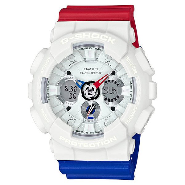 Электронные часы Casio G-Shock Ga-120trm-7a White/Red/Blue casio g shock g classic ga 400 7a