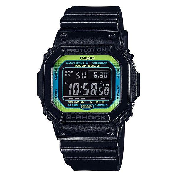 Электронные часы Casio G-Shock Gw-m5610ly-1e True Black/GreenМужские наручные часы в спортивном стиле с ударопрочным корпусом из полимерного пластика.Технические характеристики: Полностью автоматическая электролюминесцентная подсветка.Ударопрочная конструкция защищает от ударов и вибрации.Питание от солнечной энергии.Прием радиосигнала точного времени (Европа, США, Япония, Китай).Функция мирового времени.Секундомер.Таймер обратного отсчета.Будильник - до 5 независимых ежедневных сигналов.Функция повтора сигнала будильника.Ежечасный сигнал.Включение/выключение звука кнопок.Полностью автоматический календарь.12/24-часовое отображение времени.Индикатор зарядки элемента питания.Минеральное стекло.Корпус из полимерного пластика.Ремешок из полимерного материала.<br><br>Цвет: черный,зеленый<br>Тип: Электронные часы<br>Возраст: Взрослый<br>Пол: Мужской