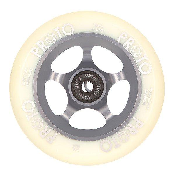 Колесо для самоката Proto 110 Мм Slider White On Grey<br><br>Цвет: белый,серый<br>Тип: Колесо для самоката<br>Возраст: Взрослый<br>Пол: Мужской