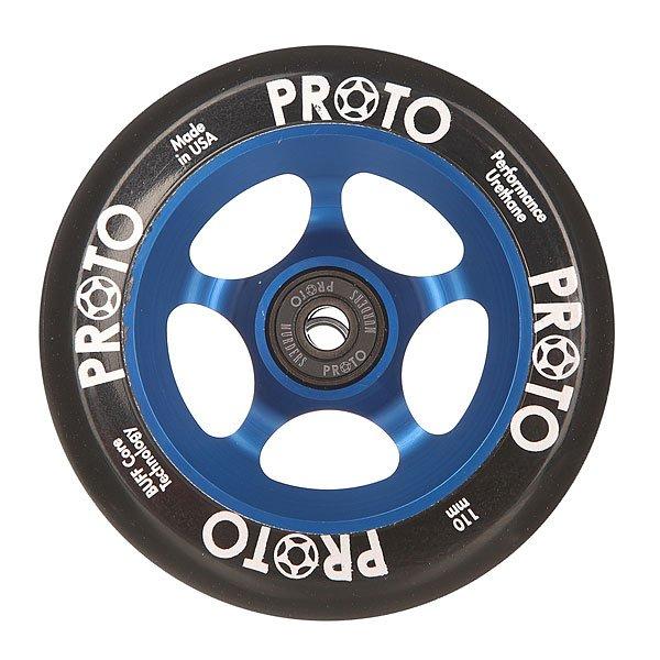 Колесо для самоката Proto 110 Мм Slider Black On BlueProto – колеса класса премиум для вашего самоката.Характеристики:Диаметр: 110 мм. Сердечники, изготовленные из одной заготовки из алюминия. Сделано в США. Вес: 212 г.<br><br>Цвет: синий,черный<br>Тип: Колесо для самоката<br>Возраст: Взрослый<br>Пол: Мужской