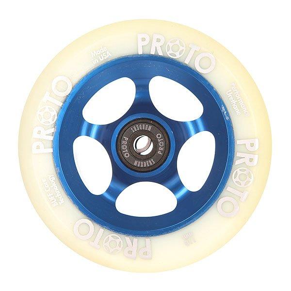 Колесо для самоката Proto 110 Мм Slider White On BlueЯркие и долговечные уретановые колеса выдержат любые испытания асфальтоми преобразят Ваш скейтборд.Характеристики:Диаметр: 110 мм.Алюминиевые перегородки.<br><br>Цвет: белый,синий<br>Тип: Колесо для самоката<br>Возраст: Взрослый<br>Пол: Мужской