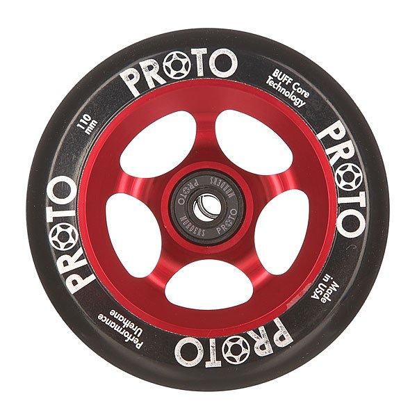 Колесо для самоката Proto 110 Мм Slider Black On RedProto – колеса класса премиум для вашего самоката.Характеристики:Диаметр: 110 мм. Сердечники, изготовленные из одной заготовки из алюминия. Сделано в США. Вес: 212 г.<br><br>Цвет: черный,бордовый<br>Тип: Колесо для самоката<br>Возраст: Взрослый<br>Пол: Мужской