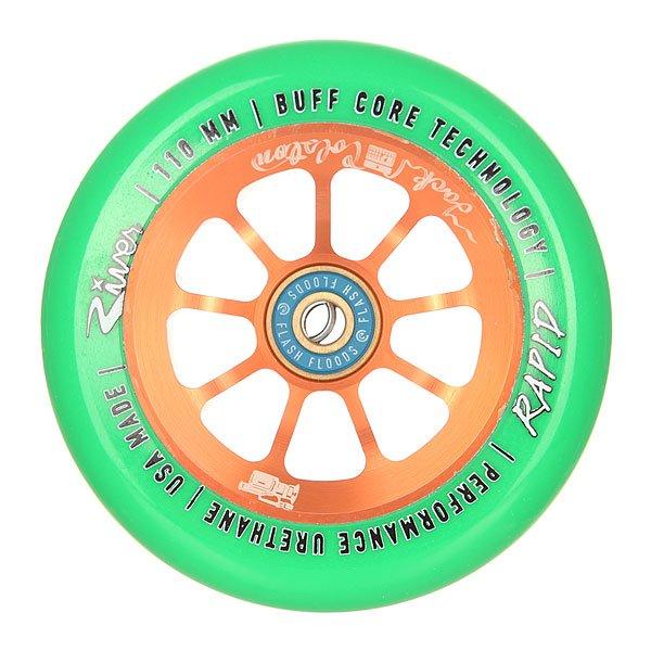 Колесо для самоката River Rapids 110Mm Jack Colston Sig. Bright Green On CopperНабор колес для вашего самоката. Характеристики:Материал: анодированный алюминий. Диаметр: 110 мм. Вес: 212 г. Идеально подходят для паркового катания. Сделано в США Andrew Broussard (PROTO).<br><br>Цвет: оранжевый,зеленый<br>Тип: Колесо для самоката<br>Возраст: Взрослый<br>Пол: Мужской