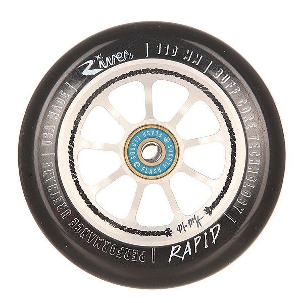 Колесо для самоката River Rapids 110Mm M. Mckeen Black/SilverНабор колес для вашего самоката. Характеристики:Материал: анодированный алюминий. Диаметр: 110 мм. Вес: 212 г. Идеально подходят для паркового катания. Сделано в США Andrew Broussard (PROTO).<br><br>Цвет: черный,серый<br>Тип: Колесо для самоката<br>Возраст: Взрослый<br>Пол: Мужской