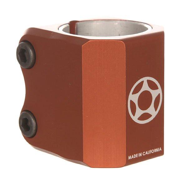 Зажимы Proto Half Knuckle CopperАлюминиевый двойной зажим для рулей оверсайзового диаметра 34,9 мм под систему HIC.Характеристики:Идёт в комплекте с проставкой. Для рулей со стандартным диаметром под системы ICS и IHC.<br><br>Цвет: оранжевый<br>Тип: Зажимы<br>Возраст: Взрослый<br>Пол: Мужской